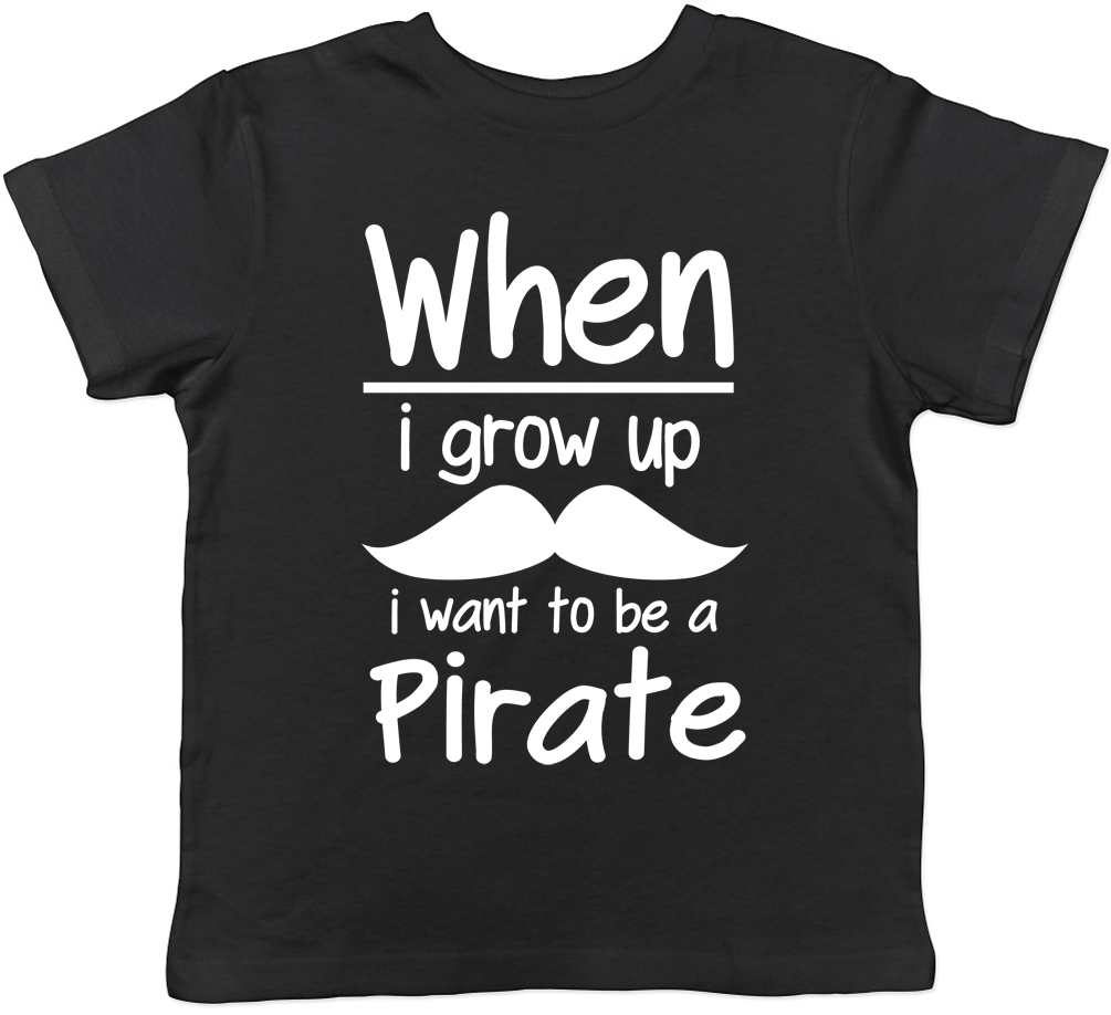 bf6721fee When I Grow Up I want to be a Pirate Childrens Kids T-Shirt Boys ...