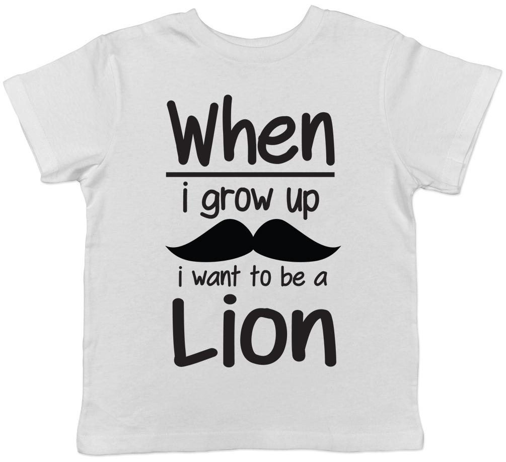 Quando creffero /'VOGLIO ESSERE UN LEONE per Bambini T-shirt Ragazzi Ragazze Tee Regalo