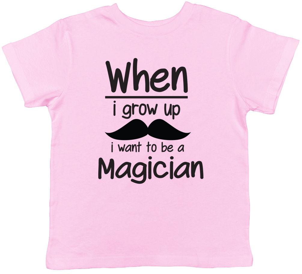 When I Grow Up I want to be a Magician Childrens Kids T-Shirt Boy Girl Magic Tee