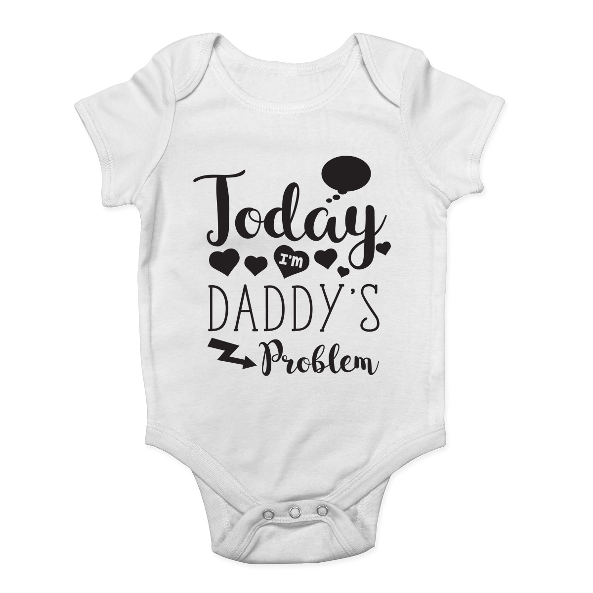 Today I/'m Daddy/'s Problem Funny Cute Baby Grow Vest Bodysuit Boys Girls Gift