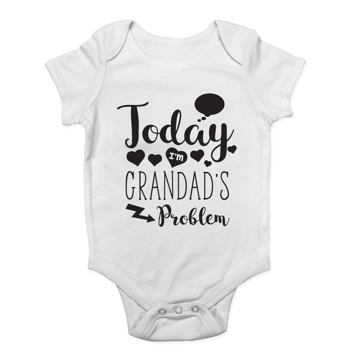 Personalised Baby Vest Bodysuit Funny Today Im Nannys Problem Baby Gifts Present