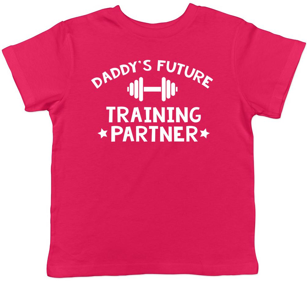 Daddy/'s Future Training Partner Boys Girls Childrens Kids Weight Lifting T-Shirt