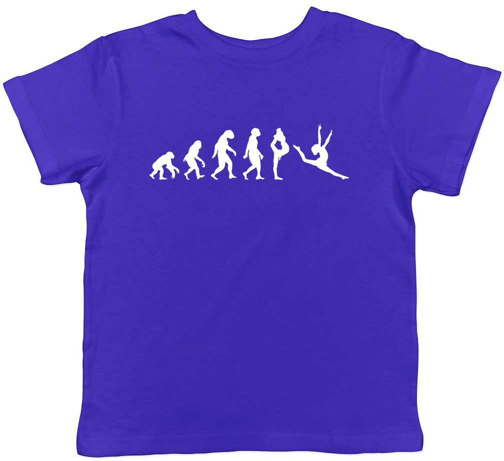 Evolution of a Gymnast Kids Boy Girl Cotton T-Shirt