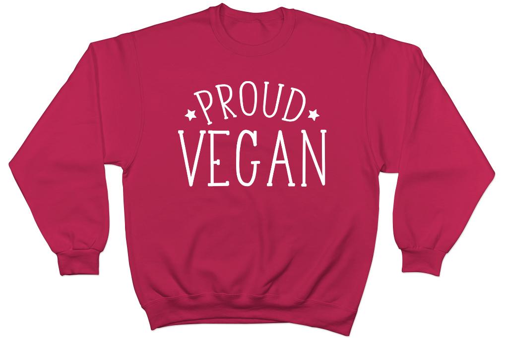 Proud Vegan Mens Womens Ladies Vegetarian Unisex Jumper Sweater Sweatshirt