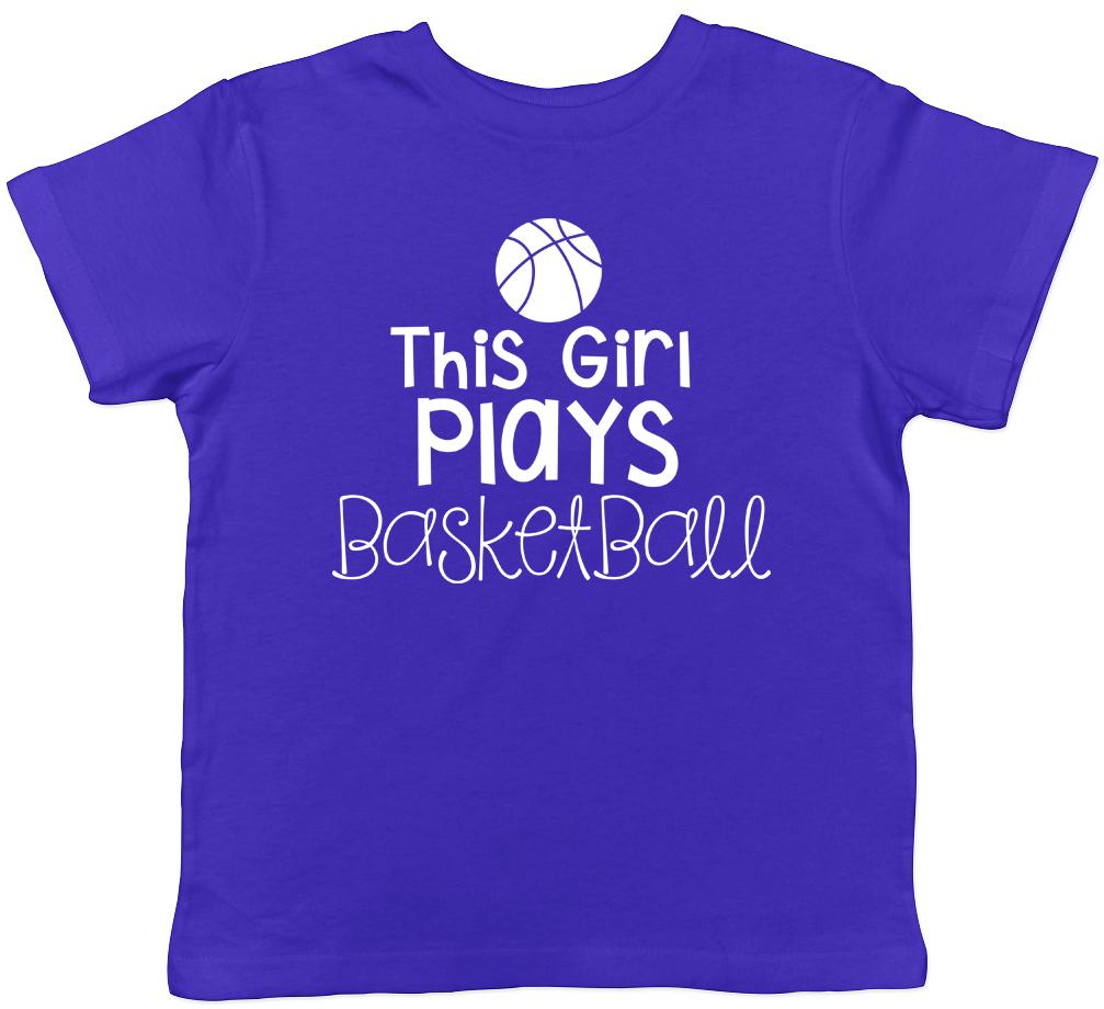 Cette fille joue au Basket Filles Enfants Tee T-Shirt