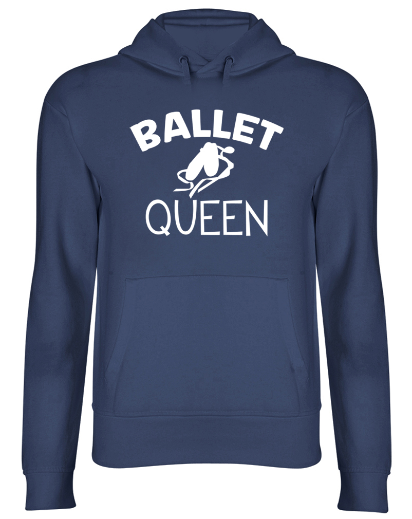 Ballet Queen Hooded Top Womens Ladies Dancing Dance Hoodie