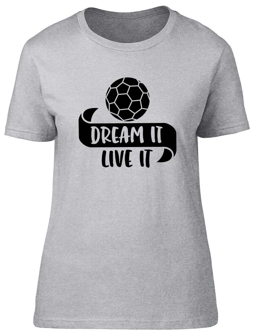 miniatura 8 - Dream It Live It - Handball Fitted Womens Ladies T Shirt