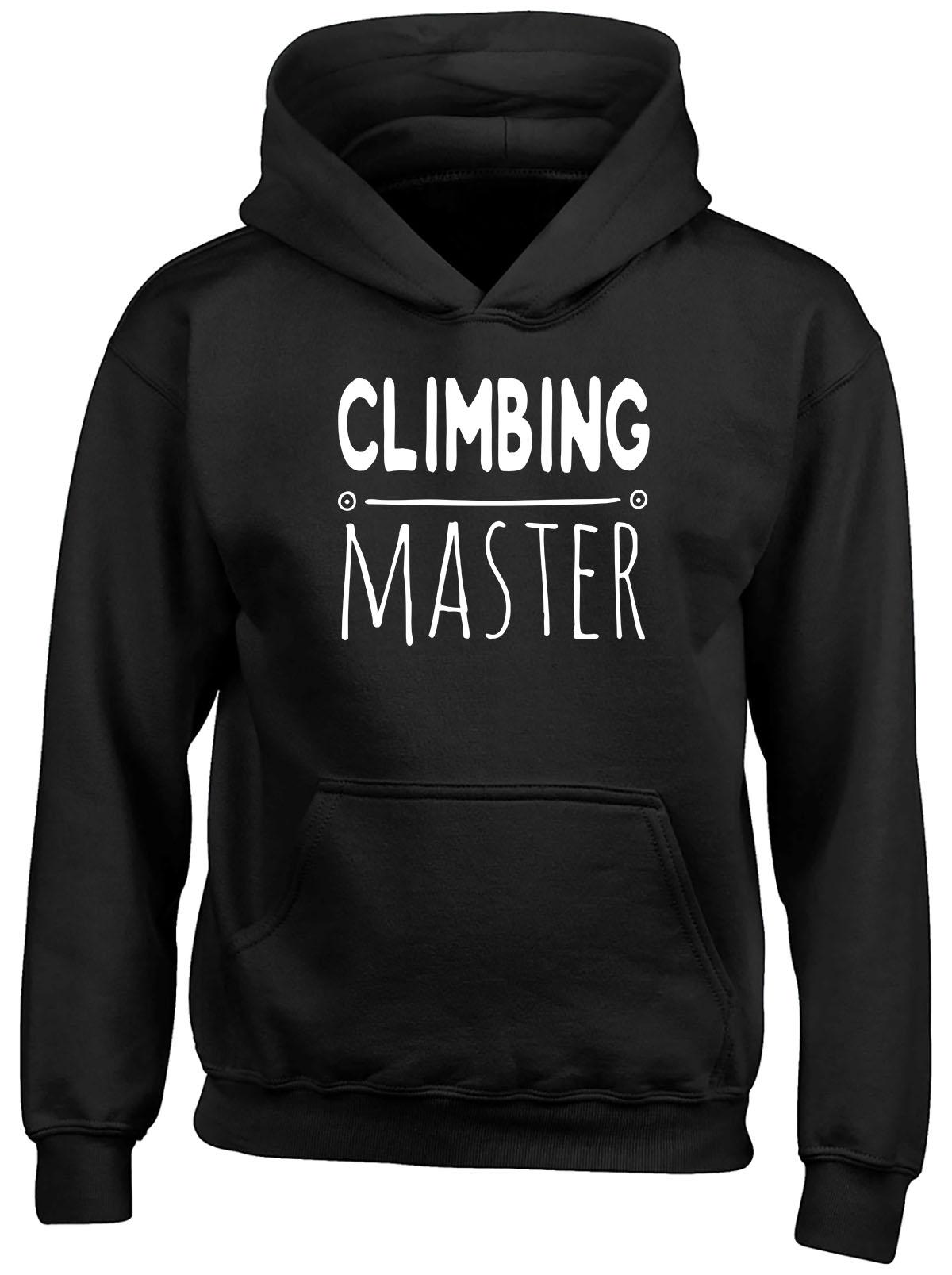 Climbing Master Childrens Kids Hooded Top Hoodie Boys Girls
