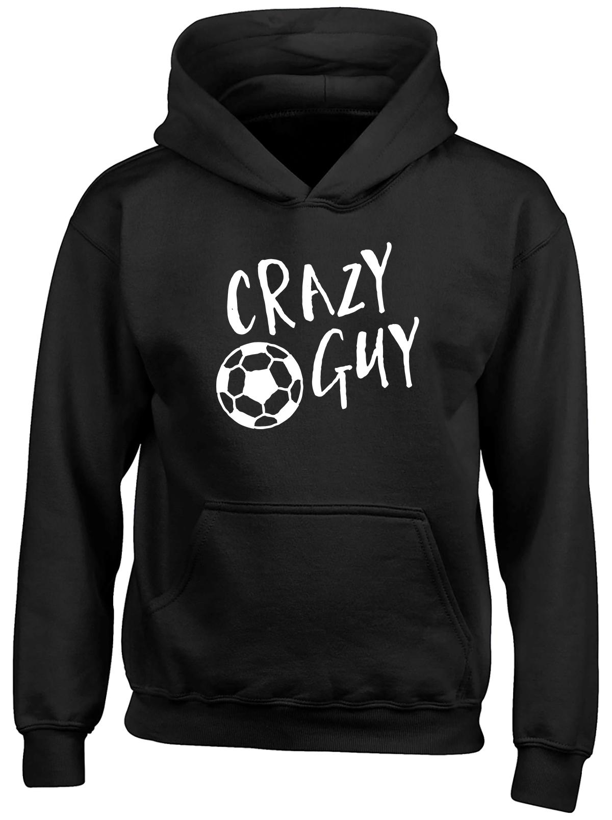 Crazy Football Guy Childrens Kids Hooded Top Hoodie Boys Girls