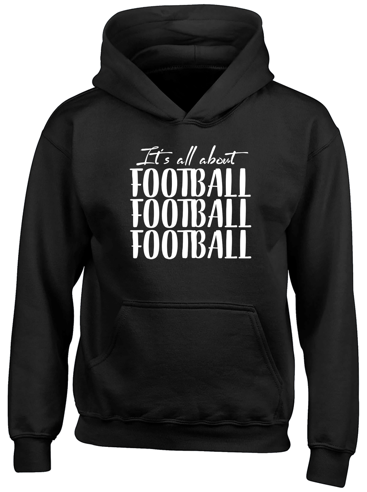 It's all about Football Childrens Kids Hooded Top Hoodie Boys Girls